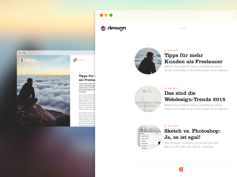 desiign Blog Design Dribbble